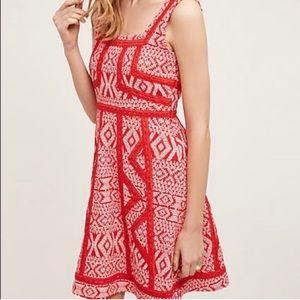 Maeve Red & White Sleeveless Emma Dress